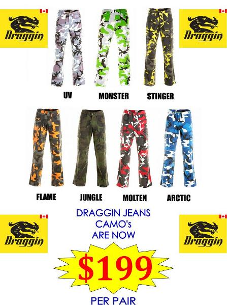 Selected Draggin Camo's on sale!!!!